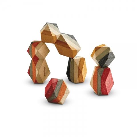 Blocuri geometrice din lemn