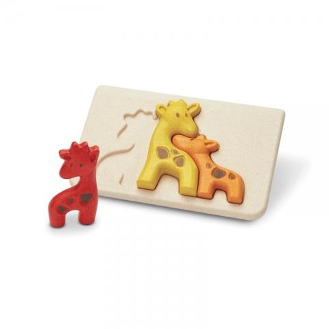 Puzzle din lemn cu familia de girafe