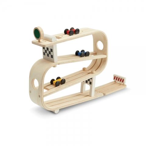 Joc din lemn - Pista cu masinute