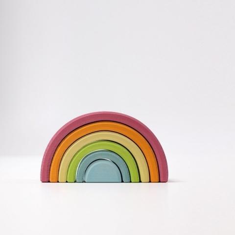 Curcubeu pastel mediu 6 piese - Grimm's Spiel und Holz Design
