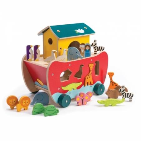 Arca lui Noe - jucarie de sortare a animalelor