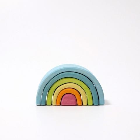 Curcubeu pastel mic 6 piese - Grimm's Spiel und Holz Design