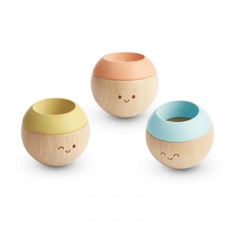 Jucarie din lemn pentru bebelusi - Mingi senzoriale - Plan Toys