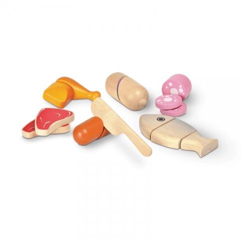 Accesoriu pentru joc de rol - carne si preparate din carne - Plan Toys