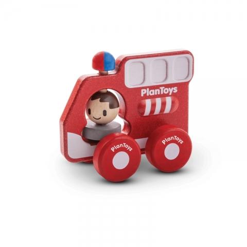 Masina de pompieri din lemn - Plan Toys