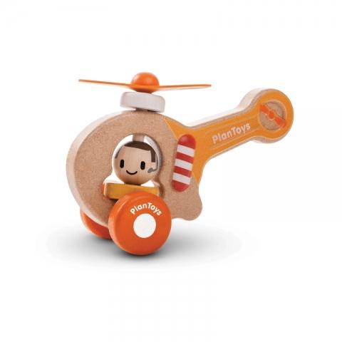 Elicopter din lemn cu pilot - Plan Toys