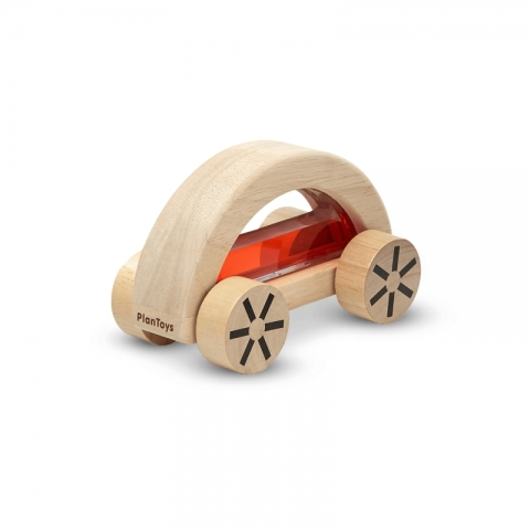 Masina din lemn cu lichid - Rosu - Plan Toys