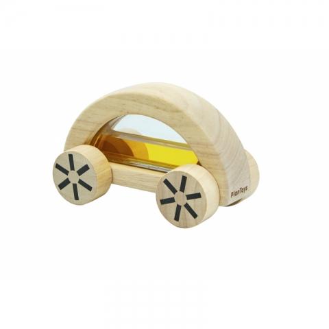 Masina din lemn cu lichid - Galben - Plan Toys