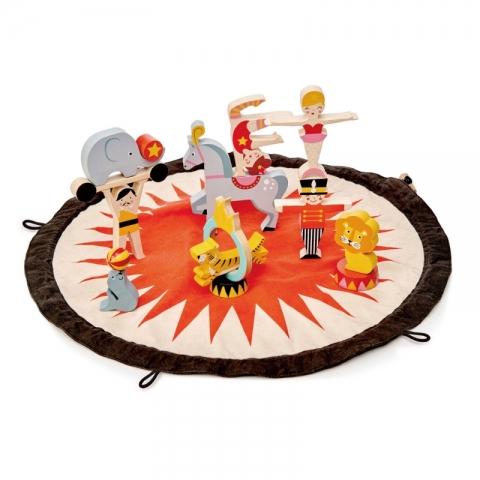 Saculet cu figurine din lemn - Circus stacker